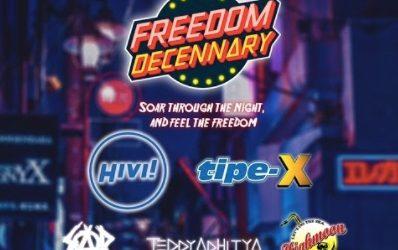 HiVi, Tipe-X, Teddy Adhitya, Siap Meramaikan Panggung Freedom of Decennary SMAN 48 Jakarta