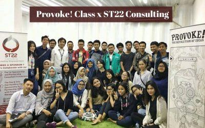 Bikin Event Seru dan Kreatif bersama Provoke! Class x ST22 Consulting
